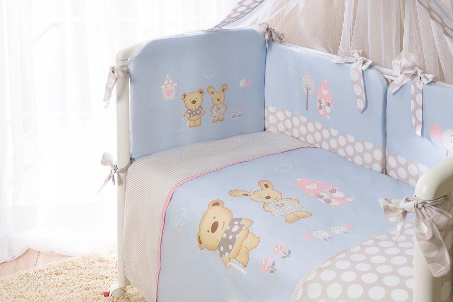 Комплект постельного белья из 3 предметов – Венеция, голубойДетское постельное белье<br>Комплект постельного белья из 3 предметов – Венеция, голубой<br>