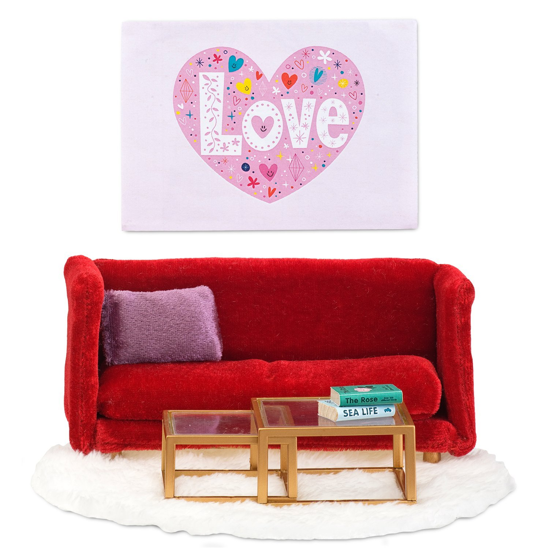 Кукольная мебель из серии Смоланд - Гостиная в красных тонахКукольные домики<br>Кукольная мебель из серии Смоланд - Гостиная в красных тонах<br>