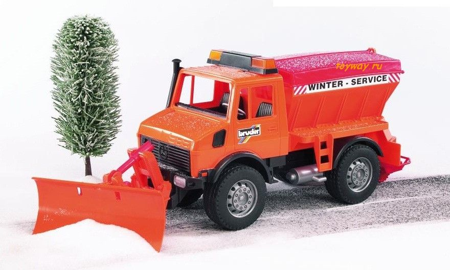 Снегоуборщик Bruder Mercedes-Benz  - купить со скидкой