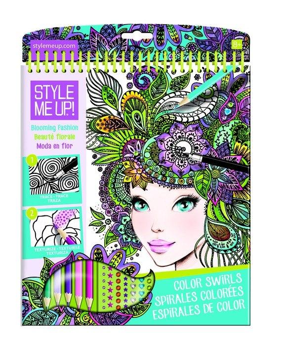 Блокнот Style Me Up - Цветущая модаНаборы для рисования<br>Блокнот Style Me Up - Цветущая мода<br>