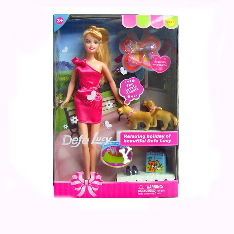 Кукла Defa в наборе с собаками и аксессуарами, высота куклы: 29смКуклы Defa Lucy<br>Кукла Defa в наборе с собаками и аксессуарами, высота куклы: 29см<br>