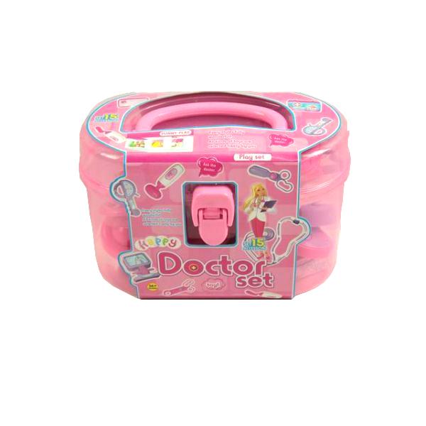 Набор доктора в пластиковом чемоданчике, 16 предметовНаборы доктора детские<br>Набор доктора в пластиковом чемоданчике, 16 предметов<br>