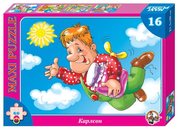 Пазл макси «Карлсон», 16 элементовПазлы для малышей<br>Пазл макси «Карлсон», 16 элементов<br>