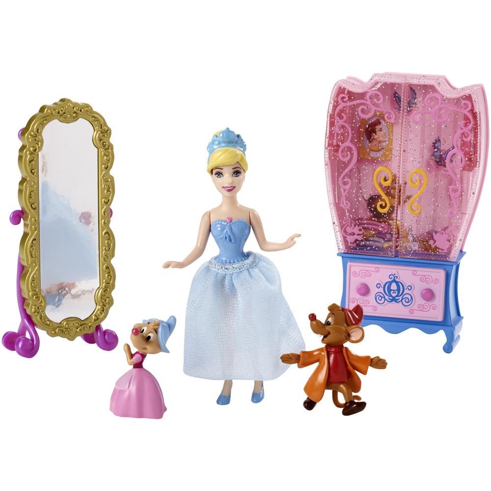 Купить Игровой набор с мини-куклой Золушка - сцена из сказки, 9 см., Mattel