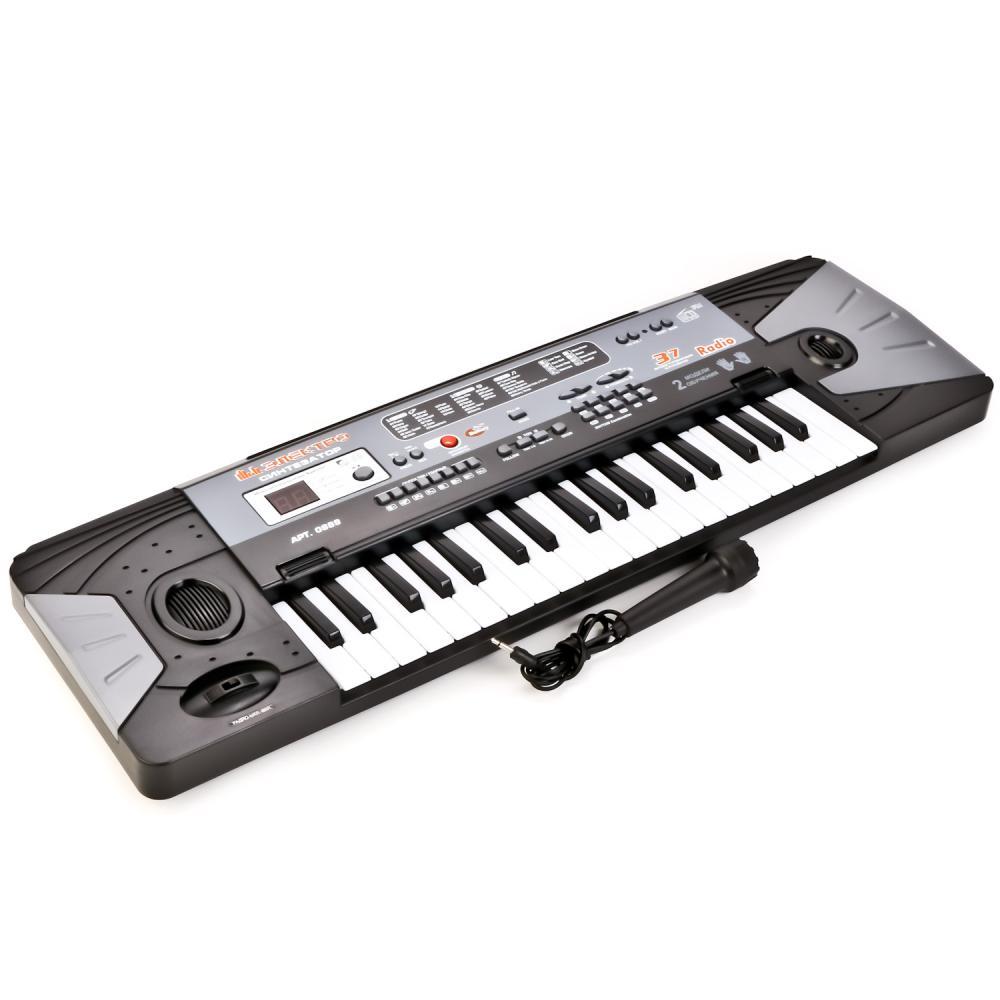 Купить Синтезатор 220V/на батарейках, свет + звук, 37 клавиш, с микрофоном, Play Smart