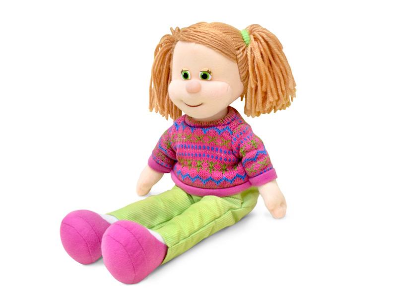 Кукла Варенька в свитере музыкальная 23 см, звук - Мягкие куклы, артикул: 170374