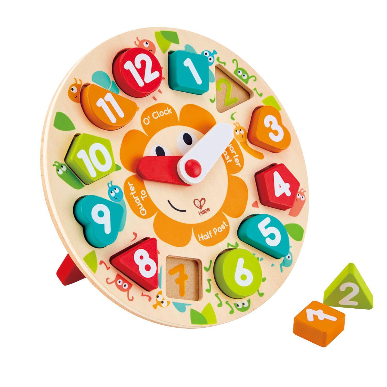 Головоломка-мозаика деревянная с часами