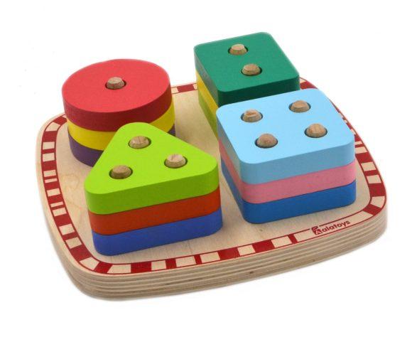 Сортер с разноцветными вкладышамиСортеры, пирамидки<br>Сортер с разноцветными вкладышами<br>