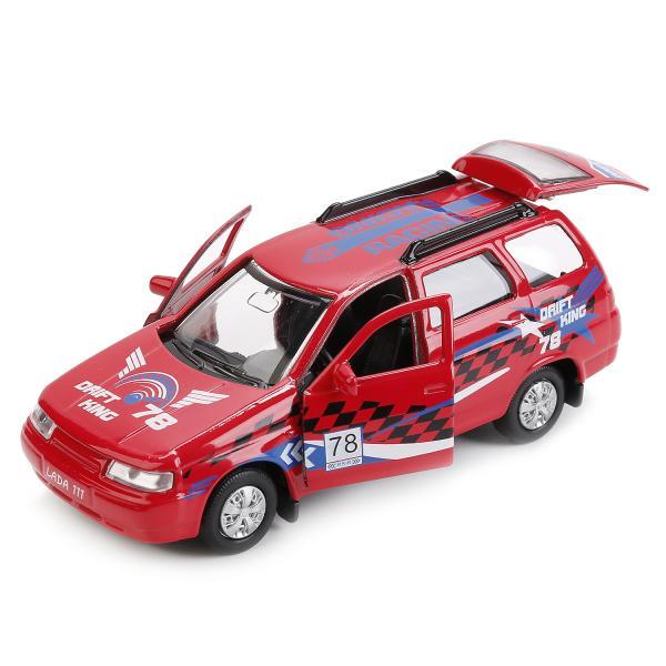 Купить Машина металлическая Лада 111 Спорт инерционная 12 см, открываются двери и багажник, Технопарк
