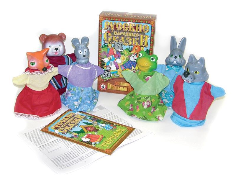 Кукольный театр Теремок. Мышка, заяц, волк, лягушка, лиса, медведьДетский кукольный театр <br>Кукольный театр Теремок. Мышка, заяц, волк, лягушка, лиса, медведь<br>