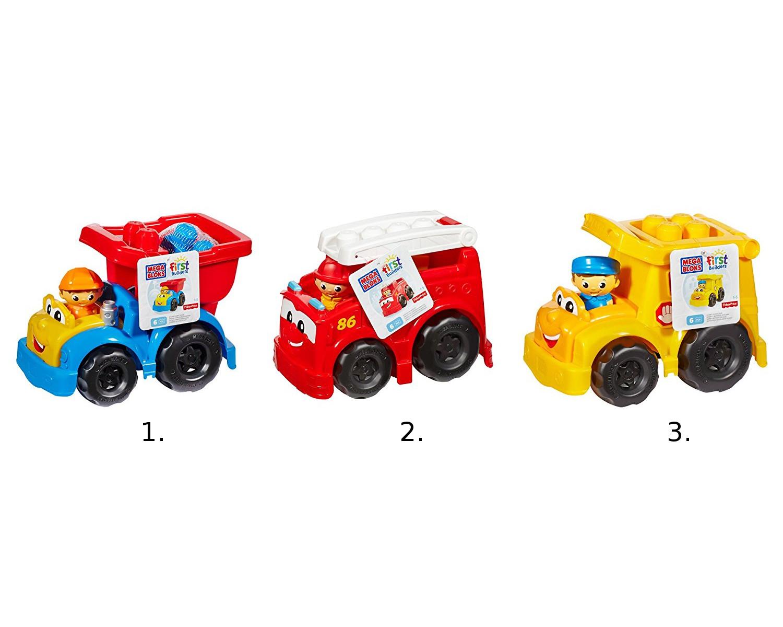 Маленькие транспортные средства из серии Mega Bloks First Builders, 3 видаМашинки для малышей<br>Маленькие транспортные средства из серии Mega Bloks First Builders, 3 вида<br>
