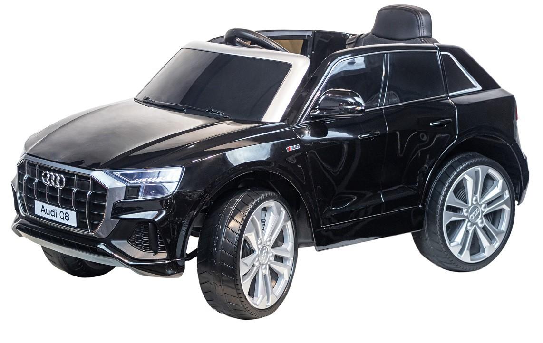 Электромобиль джип Audi Q8, черный