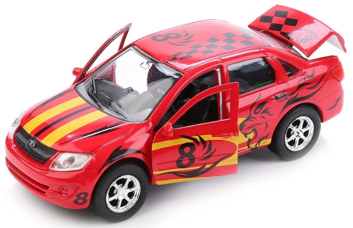 Купить Машина металлическая инерционная Лада Гранта Спорт 12 см., открываются двери, Технопарк