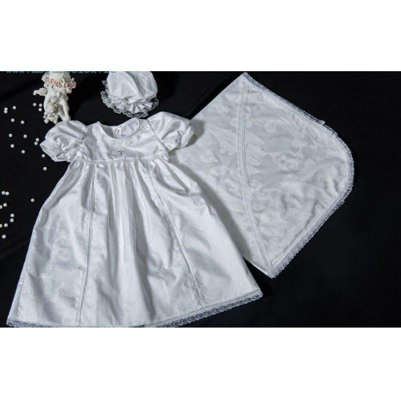 Крестильный набор для девочки  Счастье, белый - Одежда для детей, артикул: 171039