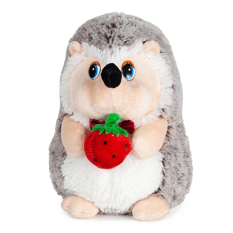 Мягкая игрушка – Ежик с Клубничкой, 19 см, звук - Говорящие игрушки, артикул: 165930