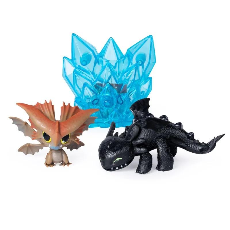 Купить Набор Как приручить дракона-3 - Беззубик и Грозокрыл с кристаллом, 8 см, Spin Master
