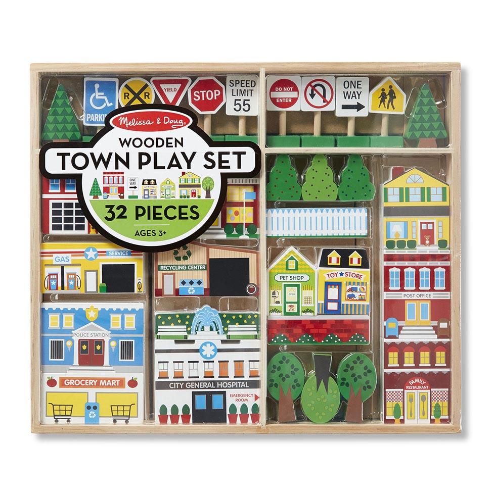 Набор деревянных игрушек - ГородКубики<br>Набор деревянных игрушек - Город<br>