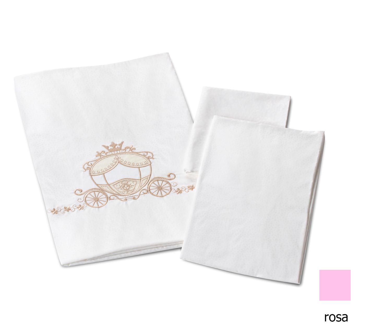 Комплект в кроватку Prestigio Pizzo, 6 предметов, rosaДетское постельное белье<br>Комплект в кроватку Prestigio Pizzo, 6 предметов, rosa<br>