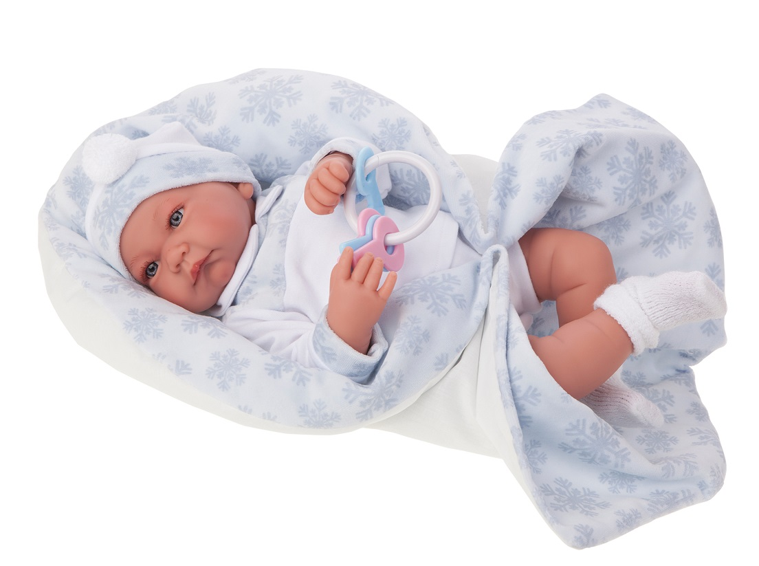 Кукла Антонио в голубом, 40 см., Antonio Juans Munecas  - купить со скидкой