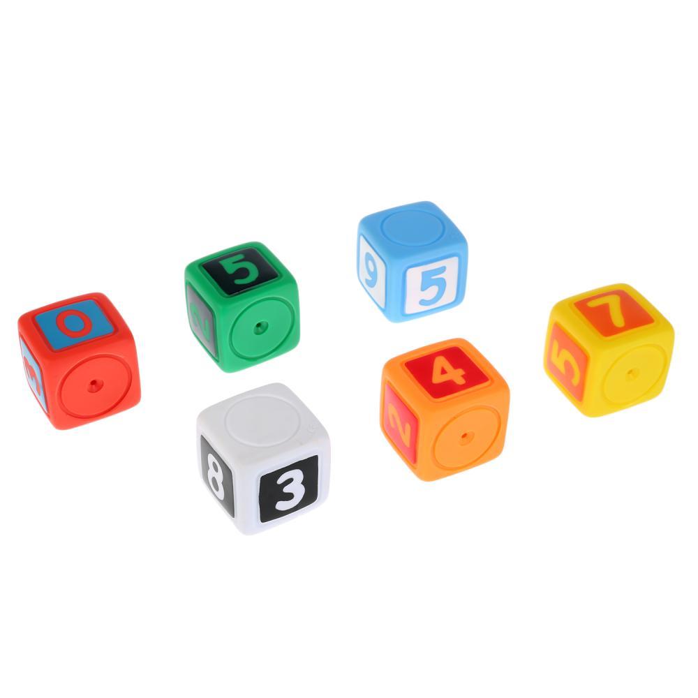 Купить Игрушки для купания – Кубики с цифрами, 6 штук, Играем вместе