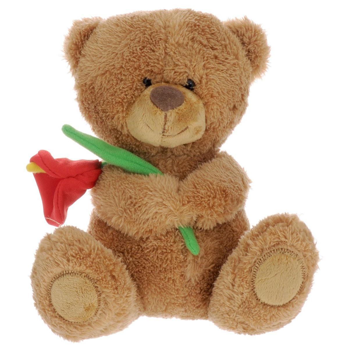 Мягкая игрушка - Медвежонок Сэмми с красной каллой, музыкальный, 18 см.Говорящие игрушки<br>Мягкая игрушка - Медвежонок Сэмми с красной каллой, музыкальный, 18 см.<br>