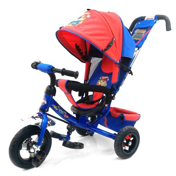 Трехколесный велосипед - Hot Wheels, колеса 10 и 8, синийВелосипеды детские<br>Трехколесный велосипед - Hot Wheels, колеса 10 и 8, синий<br>