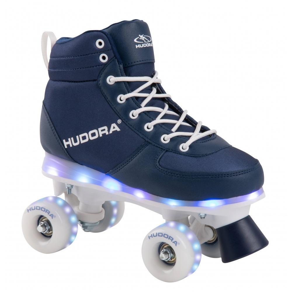 Роликовые коньки Hudora - Advanced navy LED, размер 31/32 фото