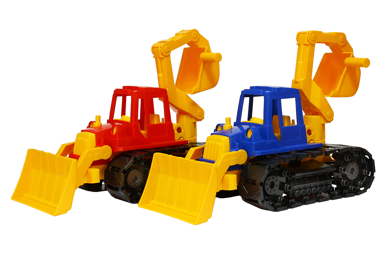 Трактор Байкал с грейдером и ковшомИгрушечные тракторы<br>Трактор Байкал с грейдером и ковшом<br>