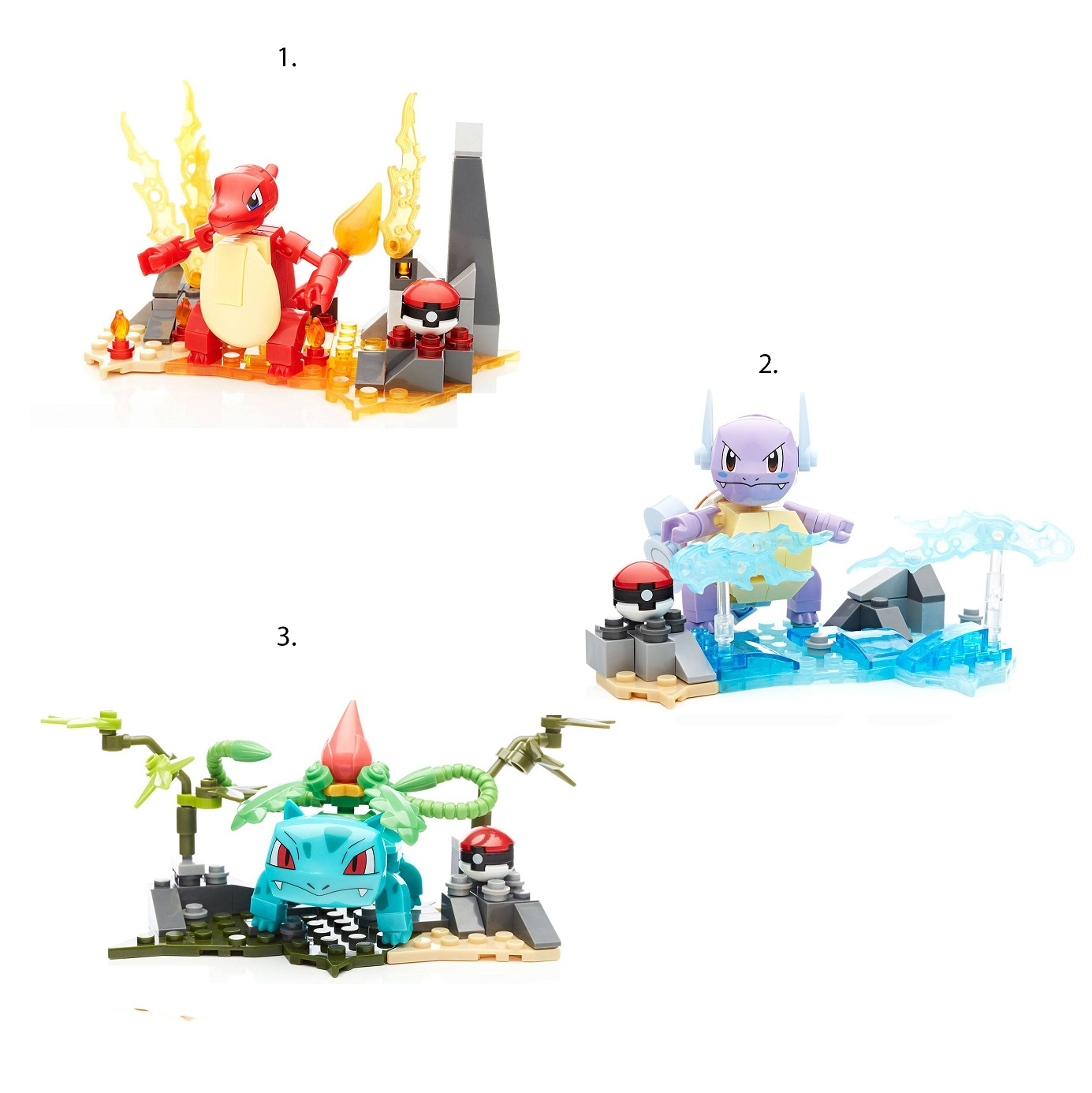 Купить Конструктор из серии Mega Construx Покемон - Эволюция, 3 вида, Mattel