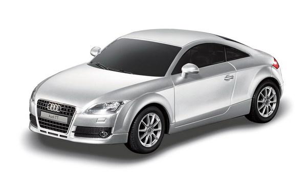 картинка Машина на р/у - Audi TT, серебряный, 1:24, свет от магазина Bebikam.ru