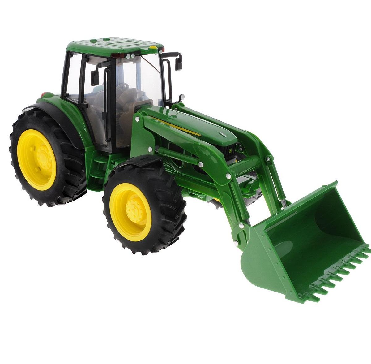 Купить Трактор John Deere 6830 с двойными колесами и фронтальным погрузчиком, Tomy