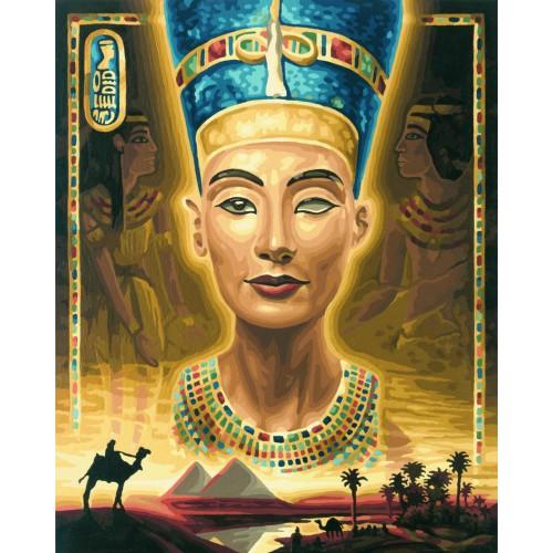 Нефертити, 40*50 смРаскраски по номерам Schipper<br>Раскраска по номерам Нефертити<br>Размер готовой работы: 40 х 50 см.<br>