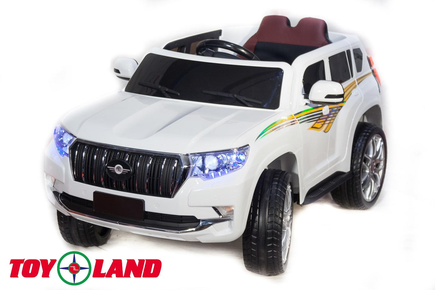 Электромобиль Джип Toyota Prado YHD5637, белый