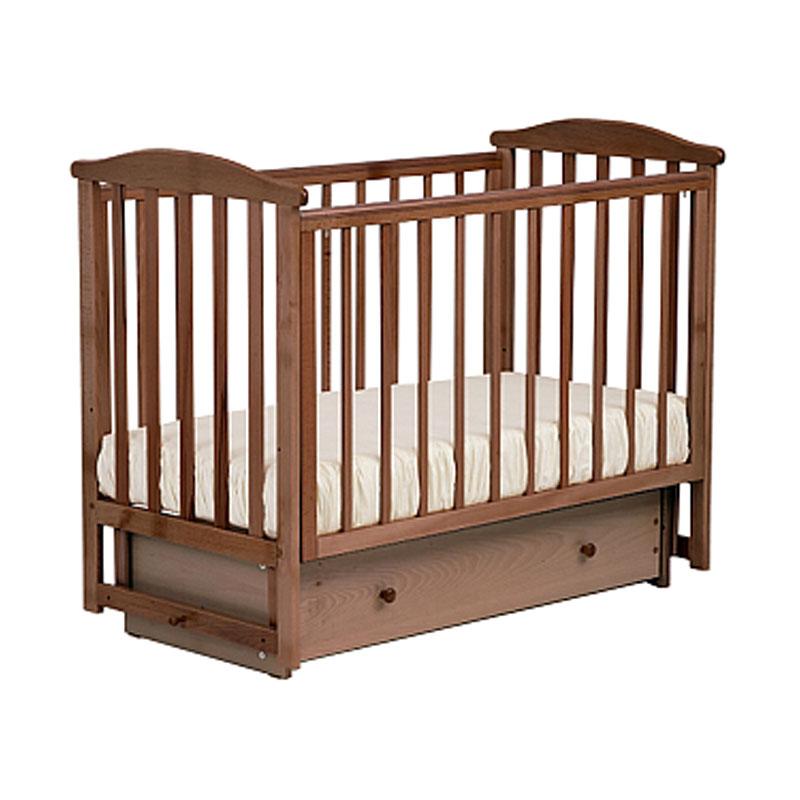 Купить Кровать детская Лель АБ 15.2 Лютик, маятник поперечный, орех светлый
