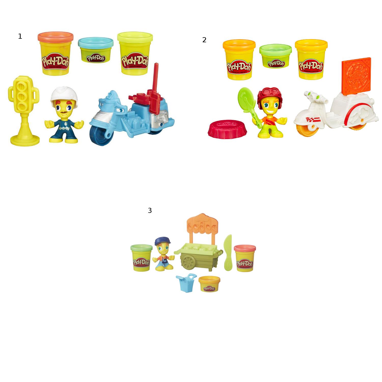 Купить Набор Play-Doh - Город транспортные средства + фигурки, Hasbro