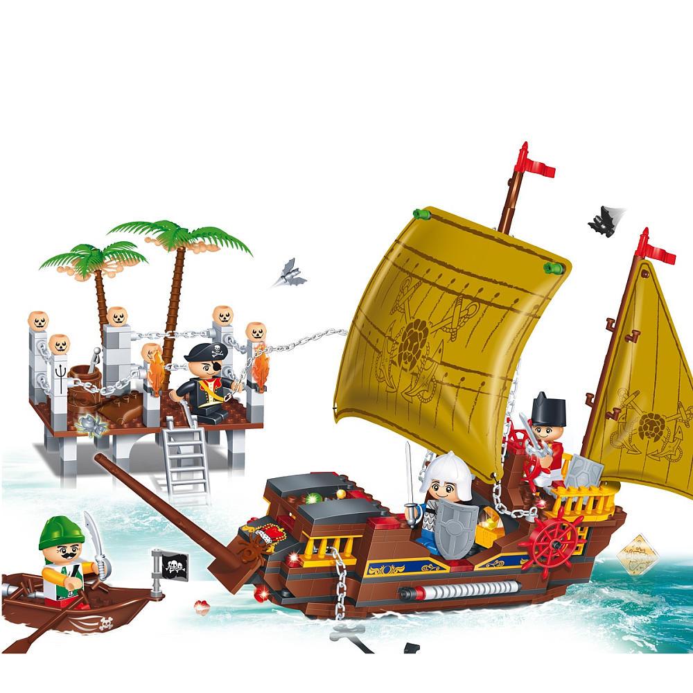Конструктор – Пиратская лодка - Конструкторы BANBAO, артикул: 98340