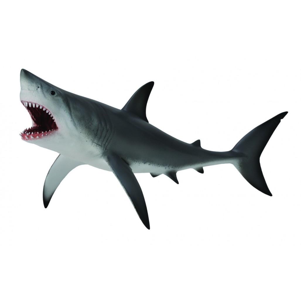 Фигурка - Акула большая белая, XLМорской мир (Sea life)<br>Фигурка - Акула большая белая, XL<br>
