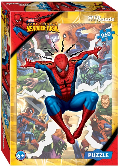 Пазл Marvel Человек-Паук, 260 элементовSpider-Man (Игрушки Человек Паук)<br>Пазл Marvel Человек-Паук, 260 элементов<br>