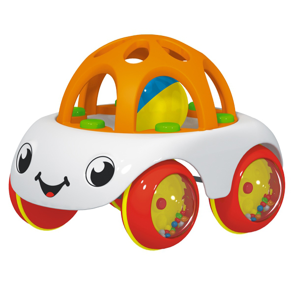 Машинка с погремушкой - ПончикМашинки для малышей<br>Машинка с погремушкой - Пончик<br>