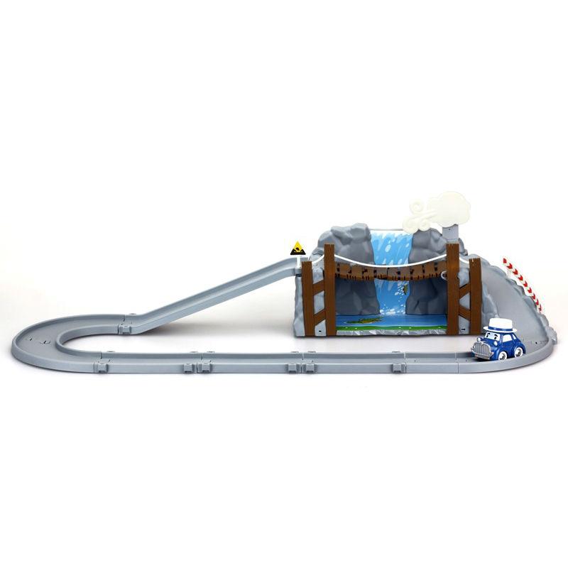 Игровой набор Робокар Поли - Обрушающийся мост с металлической машинкой МастиАвтотреки и авторалли<br>Игровой набор Робокар Поли - Обрушающийся мост с металлической машинкой Масти<br>