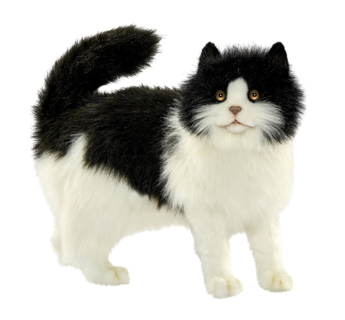 Купить Мягкая игрушка – Кошка черно-белая, 40 см, Hansa