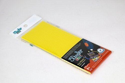 Эко-пластик к 3Д ручке 3Doodler Start, цвет желтый, 24 шт, Limited, 3DS-ECO04-YELLOW-24) - Детский 3D принтер QIXELS, артикул: 174469