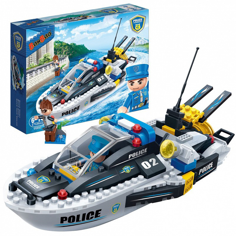 Купить Конструктор - Полицейский катер, 225 деталей, BanBao