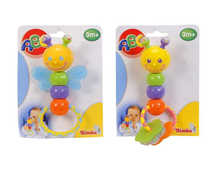 Игрушка 2 в 1 – Погремушка-прорезыватель, 2 видаДетские погремушки и подвесные игрушки на кроватку<br>Игрушка 2 в 1 – Погремушка-прорезыватель, 2 вида<br>