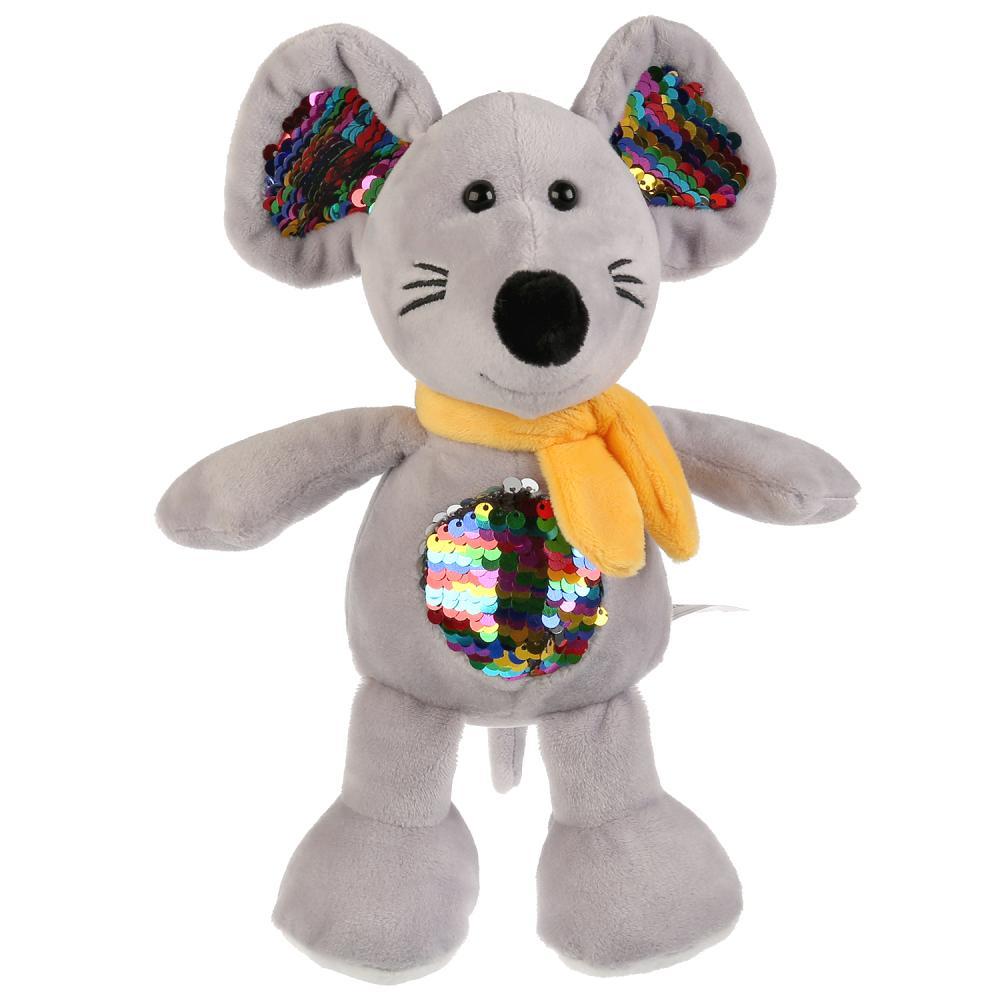 Купить Игрушка мягкая - Мышь с пайетками на животе, 16 см, Мульти-Пульти
