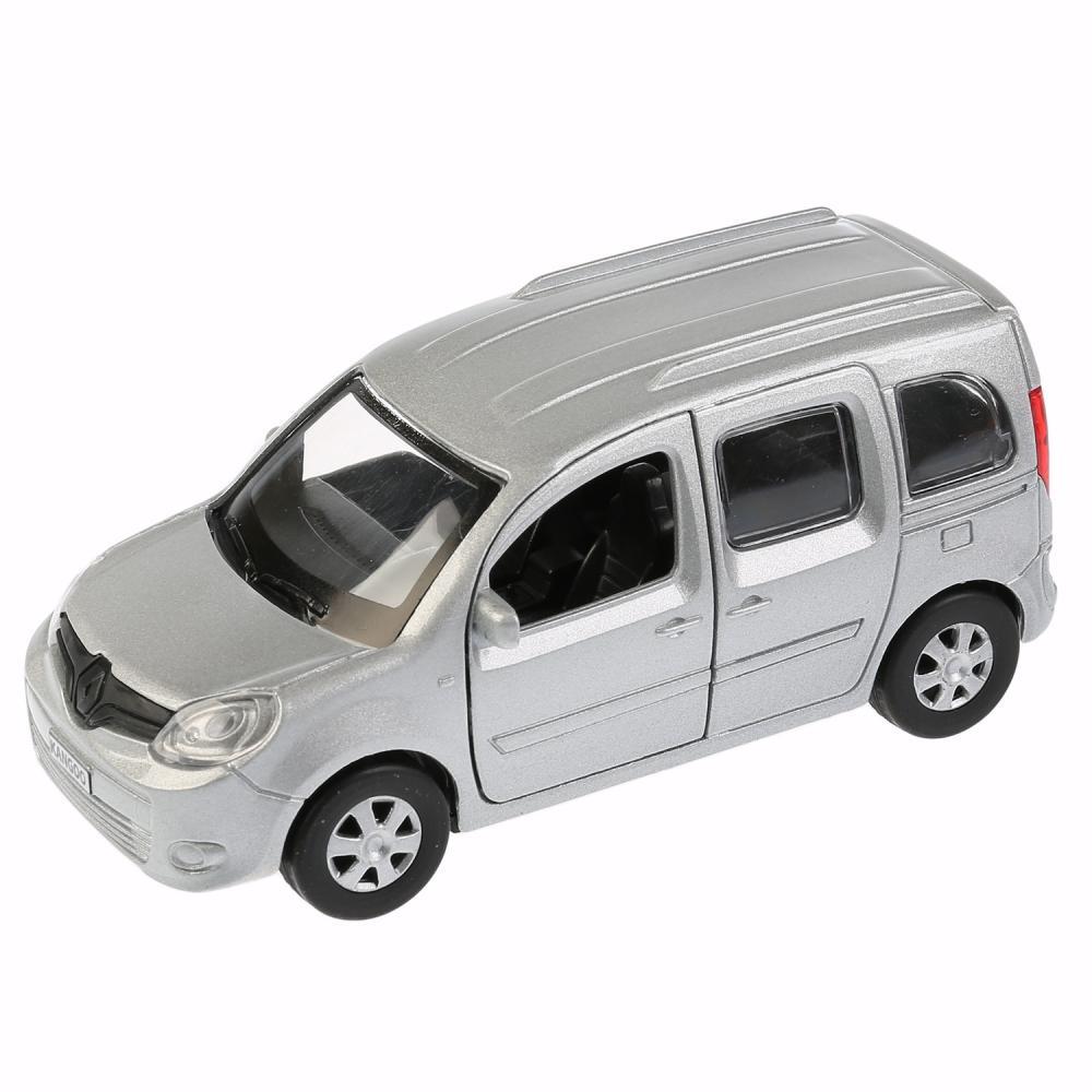 Купить Машина металлическая Renault Kangoo 12 см., открываются двери, инерционная, серебристая, Технопарк