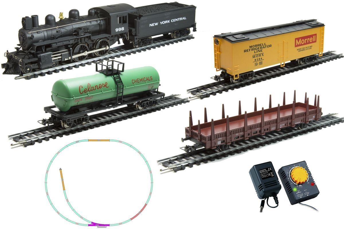 Стартовый набор Mehano Hobby – паровоз Pan American с 3-мя вагонамиДетская железная дорога<br>Стартовый набор Mehano Hobby – паровоз Pan American с 3-мя вагонами<br>