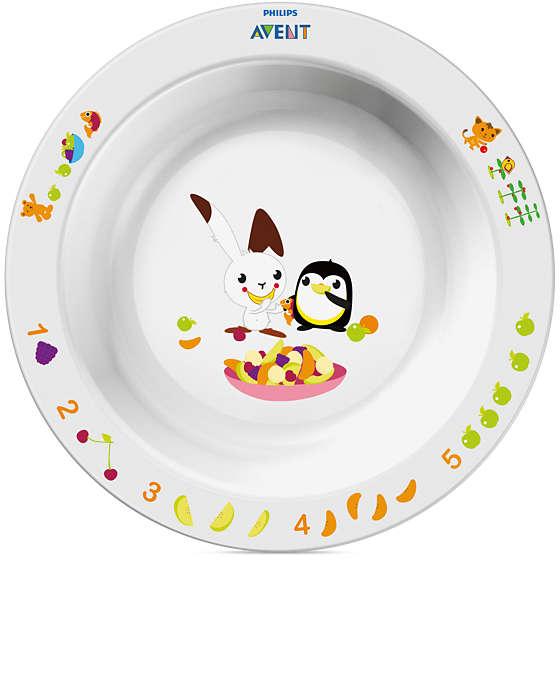 Большая глубокая тарелка Avent Philips