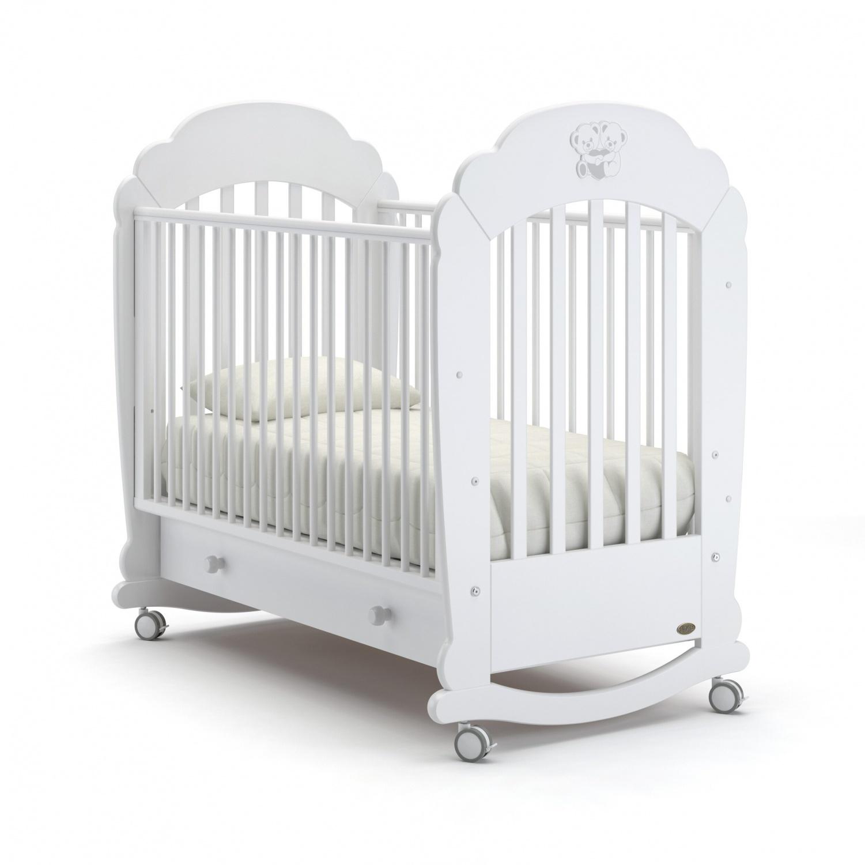 Купить Детская кровать Nuovita Parte dondolo, bianco/белый