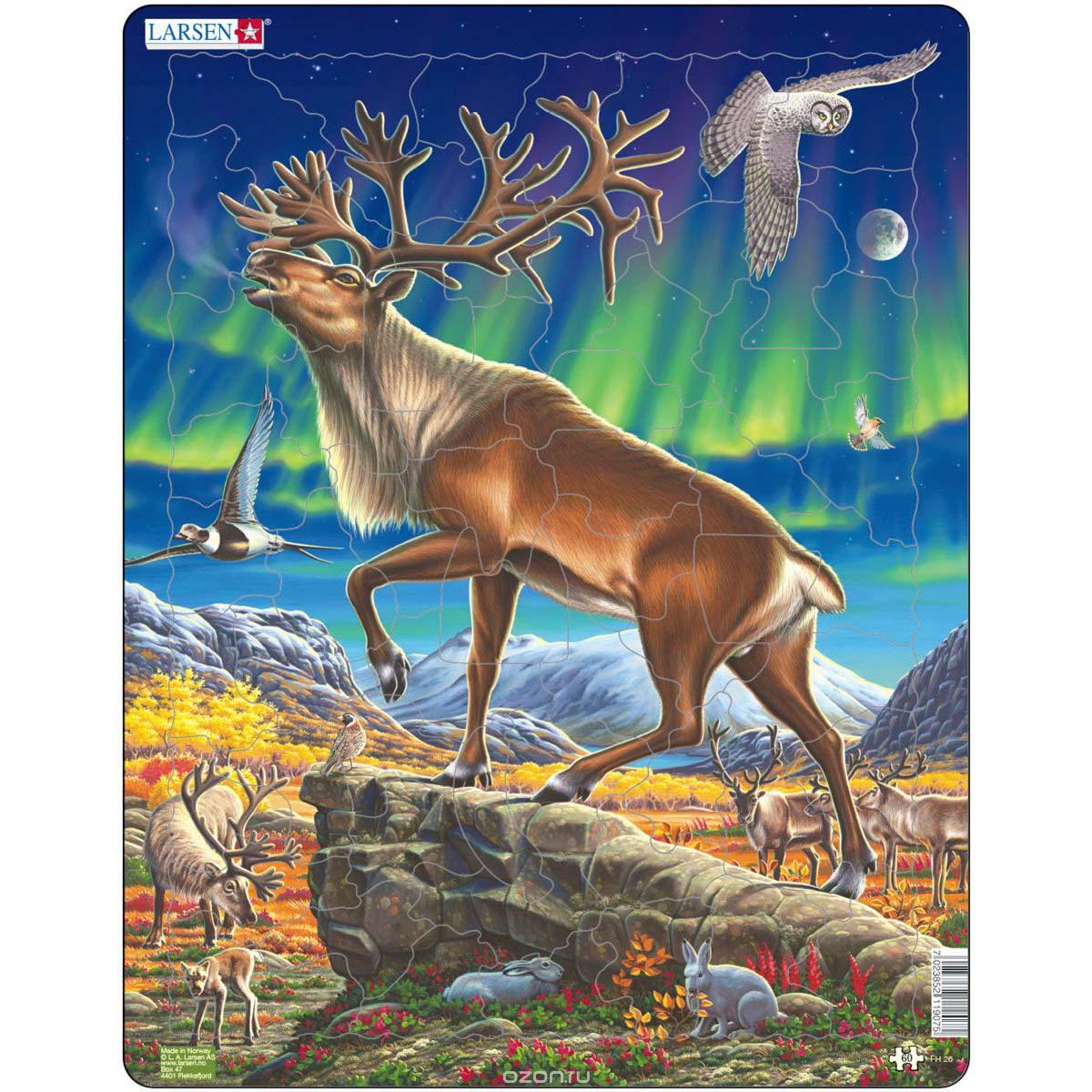 Купить Пазл – Северный олень, 60 деталей, Larsen
